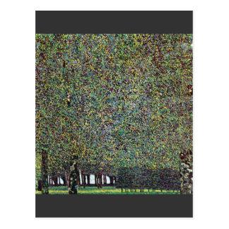 グスタフのクリムトによる公園 ポストカード