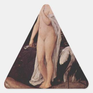 グスタフのクリムトによる寓話 三角形シール