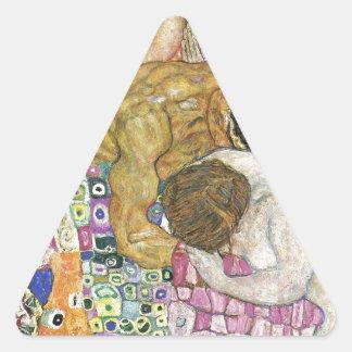 グスタフのクリムトによる死そして生命 三角形シール