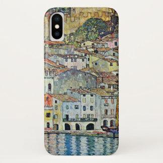 グスタフのクリムトによる湖GardaのMalcesine iPhone X ケース