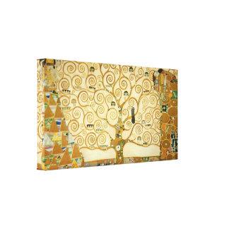 グスタフのクリムトによる生命の樹 キャンバスプリント