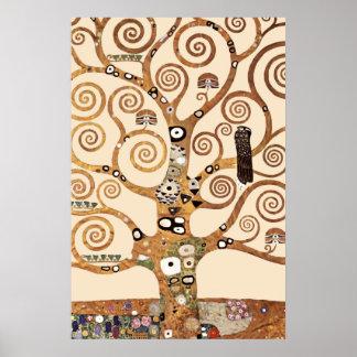 グスタフのクリムトによる生命の樹 ポスター