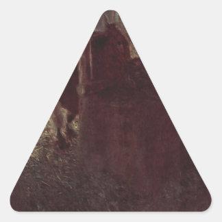 グスタフのクリムトによる納屋の牛 三角形シール