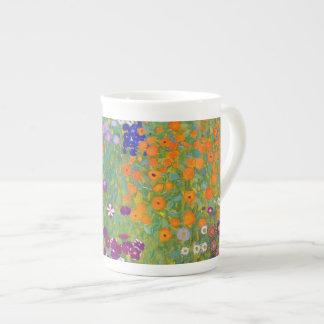 グスタフのクリムトによる花園 ボーンチャイナカップ