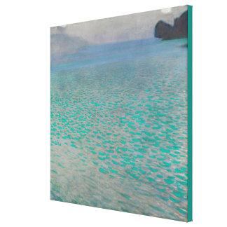 グスタフのクリムトによるAtterseeはキャンバスのプリントを伸ばしました キャンバスプリント