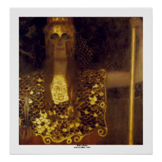 グスタフのクリムトによるPallasアテーナー ポスター