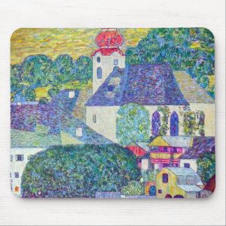 グスタフのクリムトによるSt.ウォルフガング教会、ビクトリアンな芸術 マウスパッド