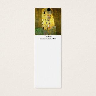 グスタフのクリムトのしおりによるキス スキニー名刺