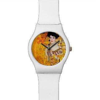 グスタフのクリムトのアデールBloch-Bauerのヴィンテージアールヌーボー 腕時計