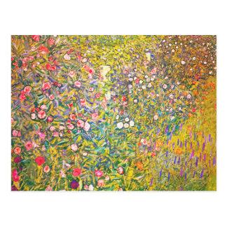 グスタフのクリムトのピンクによっては郵便はがきが開花します ポストカード