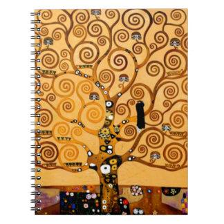 グスタフのクリムトのファインアートによる生命の樹 ノートブック
