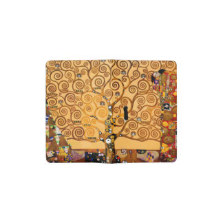 グスタフのクリムトのファインアートによる生命の樹 ポケットMoleskineノートブック