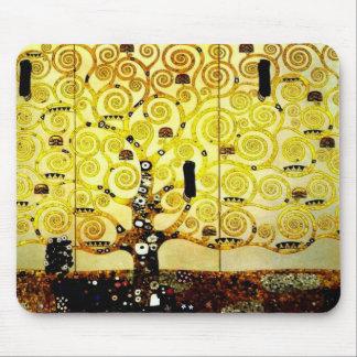 グスタフのクリムトのマウスパッドのバージョン2による生命の樹 マウスパッド