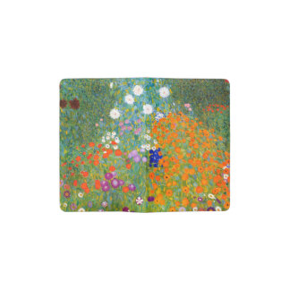 グスタフのクリムトのヴィンテージの花柄による花園 ポケットMoleskineノートブック