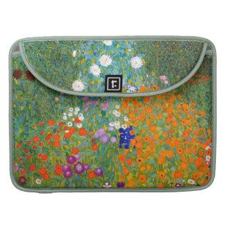 グスタフのクリムトのヴィンテージの花柄による花園 MacBooks 用スリーブ