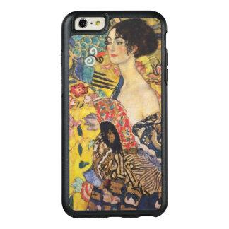 グスタフのクリムトの女性With Fanアールヌーボー絵を描くこと オッターボックスiPhone 6/6s Plusケース