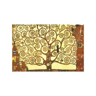 グスタフのクリムトの生命の樹 キャンバスプリント