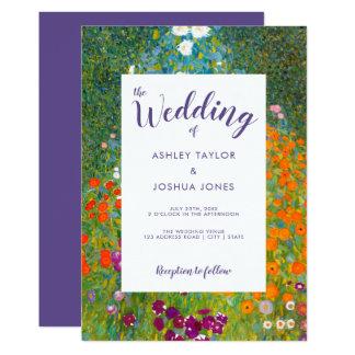 グスタフのクリムトの花の結婚式による花園 カード