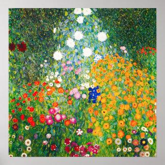 グスタフのクリムトの花園ポスター ポスター