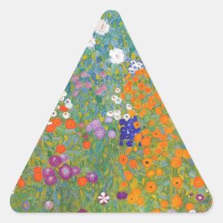 グスタフのクリムトの//Bauerngarten //の農場の庭 三角形シール