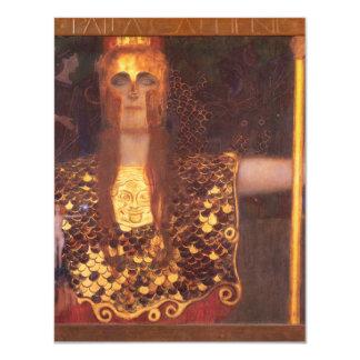 グスタフのクリムトのMinerva Pallasアテーナーの招待状 カード