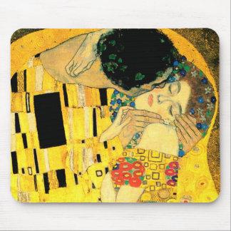 グスタフのクリムトアールヌーボーによるキス マウスパッド