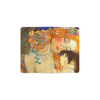 グスタフのクリムトアールヌーボーによる母そして子供 ポケットMoleskineノートブック