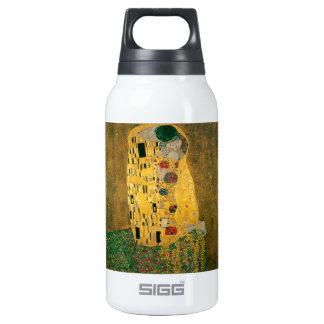 グスタフのクリムトキスのアールヌーボーJugendstilの金ゴールド 断熱ウォーターボトル