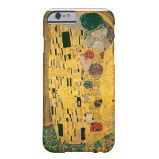 グスタフのクリムトキスのアールヌーボーJugendstilの金ゴールド Barely There iPhone 6 ケース