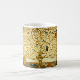 グスタフのクリムトヴィンテージアールヌーボー生命の樹 コーヒーマグカップ