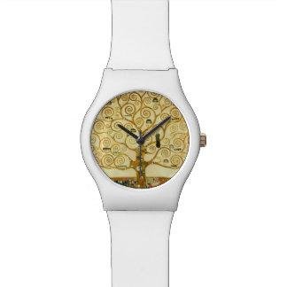 グスタフのクリムトヴィンテージアールヌーボー生命の樹 腕時計