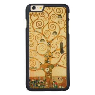 グスタフのクリムトヴィンテージアールヌーボー生命の樹 CarvedメープルiPhone 6 PLUS スリムケース