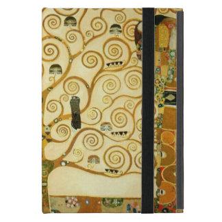 グスタフのクリムトヴィンテージアールヌーボー生命の樹 iPad MINI ケース
