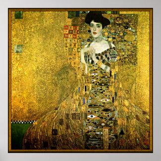 グスタフのクリムト金女性 ポスター