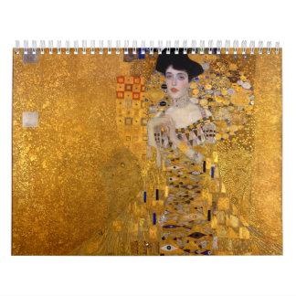 グスタフのクリムト1907年によるアデールBloch-Bauerのポートレート カレンダー