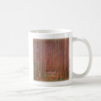グスタフのクリムト、もみの森林 コーヒーマグカップ