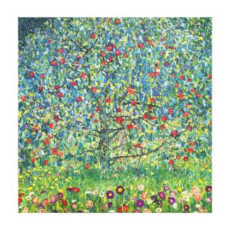 グスタフのクリムト: りんごの木 キャンバスプリント