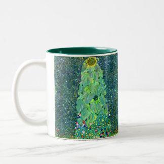 グスタフのクリムト: ヒマワリ ツートーンマグカップ
