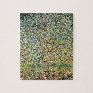 グスタフのクリムト、ヴィンテージアールヌーボーによるりんごの木 ジグソーパズル