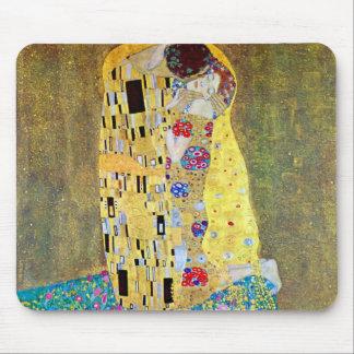 グスタフのクリムト、ヴィンテージアールヌーボーによるキス マウスパッド