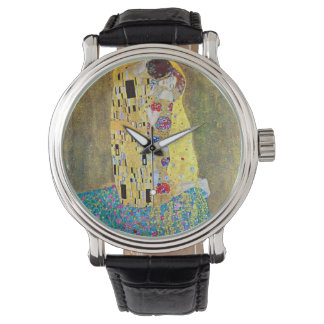 グスタフのクリムト、ヴィンテージアールヌーボーによるキス 腕時計