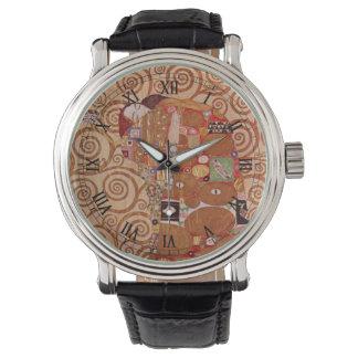 グスタフのクリムト、ヴィンテージアールヌーボーによる達成 腕時計
