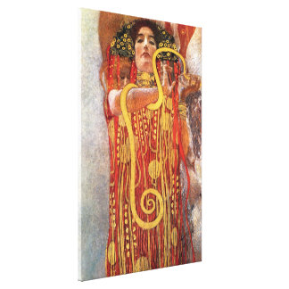 グスタフのクリムト-健康のHygieiaの薬の女神 キャンバスプリント