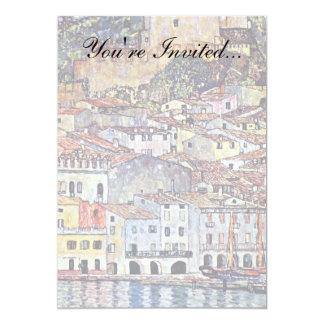 グスタフのクリムト-湖GardaイタリアのMalcesine カード