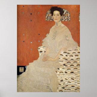 グスタフのクリムト- Fritza Riedler 1906年のポートレート ポスター