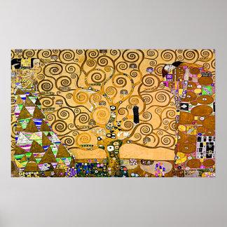 グスタフのクリムト「Lifeの木 ポスター