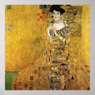 グスタフのクリムト- Portret van Adelee Bloch-Bauer 1907年 ポスター
