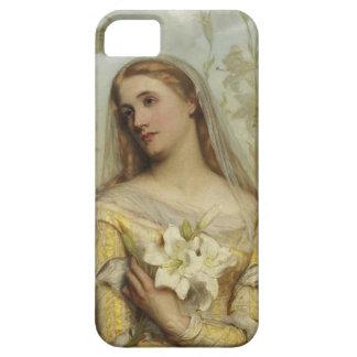 グスタフの法皇の例によるIphone 5ユリ iPhone SE/5/5s ケース