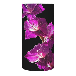 Wrapped LED candle, with gladiolus