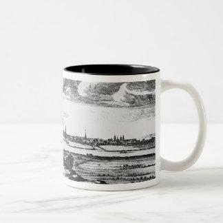 グラスゴーの町の見通し ツートーンマグカップ